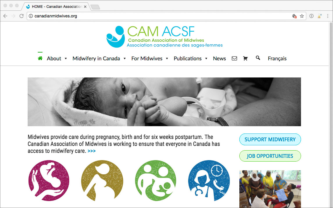 Canadian Association of Midwives website